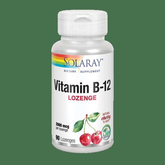 Vitamin B-12 2000 mcg - 90 lozenges. Sin gluten. Apto para veganos.
