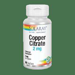 Copper Citrate- 60 VegCaps. Apto para veganos