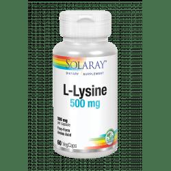 L-Lysine 500 mg- 60 Vegcaps. Sin gluten. Apto para veganos