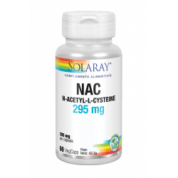 NAC-295 mg- 60 VegCaps. Sin gluten. Apto para vegetarianos