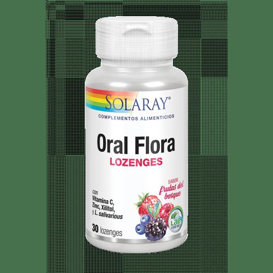 Oral flora- 30 comprimidos lozenges sabor a frutas del bosque. Apto para veganos