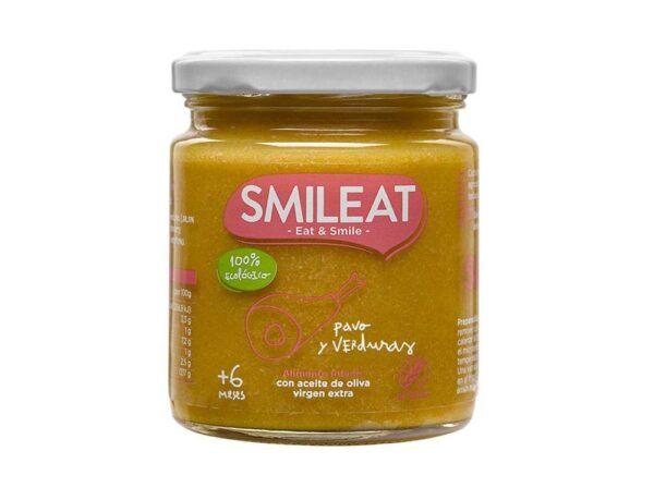Pavo con verduras ecológicas Smileat 230 gr.