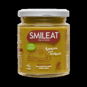 Ternera con verduras Smileat 230 gr.