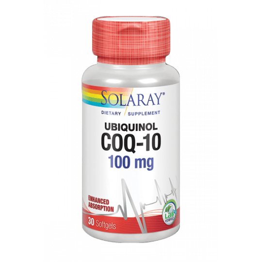 Ubiquinol (Kaneka) CoQ-10- 100mg- 30 perlas. Sin gluten